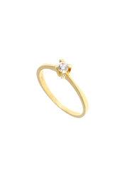 γυναικείο δαχτυλίδι, μονόπετρο με ζιργκόν, σε χρυσό Κ14 / 1DA2805