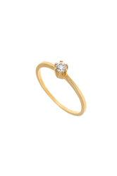γυναικείο δαχτυλίδι, μονόπετρο με ζιργκόν, σε χρυσό Κ14 / 1DA2807