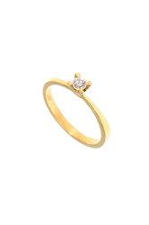 γυναικείο δαχτυλίδι, μονόπετρο με ζιργκόν, σε χρυσό Κ14 / 1DA2848