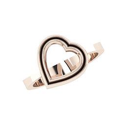 Δαχτυλίδι Δίδυμες Καρδιές 2 / Ασημένιο, χειροποίητο, ροζ επιχρυσωμένο