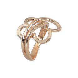Μοντέρνο Δαχτυλίδι 38 με καρδιές / Ασημένιο, χειροποίητο, ροζ επιχρυσωμένο