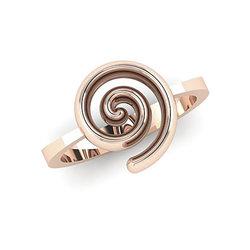 Νεανικό Δαχτυλίδι Σπείρα 1031 / Ασημένιο, χειροποίητο, ροζ επιχρυσωμένο