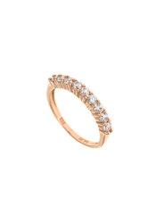 γυναικείο δαχτυλίδι, σειρέ, 9- πετρο, με ζιργκόν, σε ροζ χρυσό Κ14 / 1DA2840