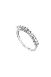 γυναικείο δαχτυλίδι, σειρέ, 9πετρο, ζιργκόν, σε λευκό χρυσό Κ14 / 1DA2841