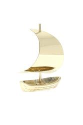 διακοσμητικό δώρο γραφείου - σπιτιού, από ορείχαλκο, βάρκα με πανί / 2ΚΡ0019