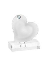 διακοσμητικό δώρο για το σπίτι και το γραφείο, καρδιά με ματάκι, τοποθετημένο σε βάση από πλέξιγκλας / 2ΔΙ0351