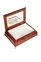 διακοσμητικό σπιτιού, ξύλινη μπιζουτιέρα με ασημένιο καπάκι ''βέρες γάμου'' / 2ΚΤ0018 - εσωτερική όψη