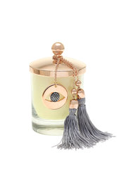 διακοσμητικό δώρο για το σπίτι και το γραφείο, αρωματικό κερί με μάτι, κατασκευασμένο από ορείχαλκο και δεμένο με αλυσίδα και φούντα / 2ΔΙ0342