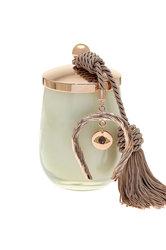 διακοσμητικό δώρο για το σπίτι και το γραφείο, αρωματικό κερί με μάτι και πέταλο, κατασκευασμένα από ορείχαλκο και δεμένα με κορδόνι και φούντα / 2ΔΙ0343