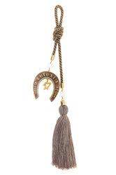 διακοσμητικό δώρο για το σπίτι και το γραφείο, πέταλο με ευχές, κατασκευασμένο από ορείχαλκο και δεμένο με κορδόνι και φούντα / 2ΔΙ0337