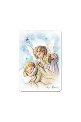εικόνα Άγγελος - Βρέφος ζωγραφισμένη σε ξύλο με ασημένιο αστέρι και 3 στρας / 2ΕΙ0187 / 75 x 100 mm