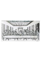 θρησκευτική ορθόδοξη εικόνα πίστης Μυστικός Δείπνος, ανάγλυφη, σε ασήμι 925' με επίχρυσα στοιχεία / 2ΕΙ0121 / 390 x 210 mm