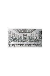 θρησκευτική ορθόδοξη εικόνα πίστης Μυστικός Δείπνος, ανάγλυφη, σε ασήμι 925' / 2ΕΙ0135 / 230 x 120 mm
