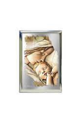 επάργυρη θρησκευτική εικόνα πίστης, Παναγία Γλυκοφιλούσα / 2ΕΙ0191 / 70 x 100 mm