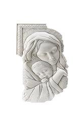 θρησκευτική εικόνα, κεραμική ανάγλυφη με νωπογραφία, Παναγία Βρεφοκρατούσα / 2ΕΙ0215 l/ 220 x 450 mm