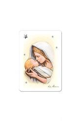 εικόνα Παναγία Γλυκοφιλούσα,ζωγραφισμένη σε ξύλο με ασημένιο αστέρι και 4 στρας  / 2ΕΙ0228 / 75 x 100  mm