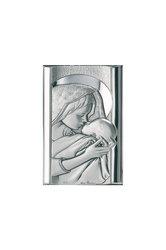 θρησκευτική καθολική εικόνα πίστης Παναγία Γλυκοφιλούσα, ανάγλυφη, σε ασήμι 925' / 2ΕΙ0250 / 50 x 90 mm