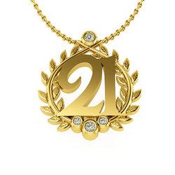 Επετειακό Μενταγιόν Γούρι 21 για τα 200 χρόνια από την Ελληνική Επανάσταση / Ασημένιο, χειροποίητο, κίτρινο επιχρυσωμένο - 04
