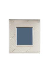 ασημένια κορνίζα φωτογραφίας, με καθρέφτη, σε λιτή απέριττη γραμμή με ιδιαίτερα φαρδιά φάσα / 2ΚΟ0332