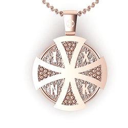 Θρησκευτικό Μενταγιόν Ιησούς Χριστός 3 / Ασημένιο, ροζ επιχρυσωμένο / πίσω όψη με το Ιησούς Χριστός Νικά