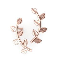 Νεανικά Μοντέρνα Σκουλαρίκια 1001 κολλητά στο αυτί - κλαδιά / Ασημένια, χειροποίητα, ροζ επιχρυσωμένα