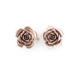 Νεανικά Μοντέρνα Σκουλαρίκια 1008 κολλητά στο αυτί - τριαντάφυλλα / Ασημένια, χειροποίητα, ροζ επιχρυσωμένα