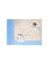 παιδικό άλμπουμ φωτογραφιών για αγοράκια  'αγγελάκι, άρπα, νότες'' / 2ΑΛ0068