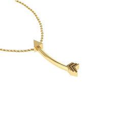 Νεανικό Μικρό Διακριτικό Μενταγιόν 1005 - βέλος / Ασημένιο, χειροποίητο, κίτρινο επιχρυσωμένο