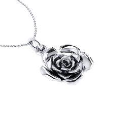 Νεανικό Μικρό Διακριτικό Μενταγιόν 1008 - τριαντάφυλλο / Ασημένιο, χειροποίητο, λευκό επιπλατινωμένο