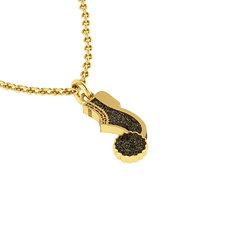 Νεανικό Μικρό Διακριτικό Μενταγιόν 1134 - τσαρούχι τσολιά / Ασημένιο, χειροποίητο, κίτρινο επιχρυσωμένο με πατίνα