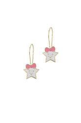 παιδικά σκουλαρίκια,  αστεράκια με σμάλτο, σε χρυσό 9 καρατίων / 1SK2186 - κρεμαστά