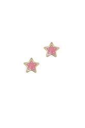 παιδικά σκουλαρίκια, αστεράκια με σμάλτο, σε χρυσό 9 καρατίων / 1SK2207