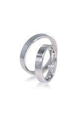 βέρες γάμου, αρραβώνα, ασημένιες 925' στα 4,00 mm / SV4 logo