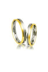 βέρες γάμου - αρραβώνω, από ασήμι επιπλατινωμένο και κίτρινο χρυσό / AB3 / 4.00 mm