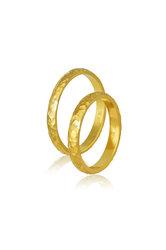 βέρες γάμου - αρραβώνων, σφυρήλατες, σε χρυσό Κ9 ή Κ14 / 410 / 3,00 mm