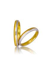 βέρες γάμου - αρραβώνων, δίχρωμες σε χρυσό και λευκό χρυσό Κ9 ή Κ14 / 701 / 3,00 mm