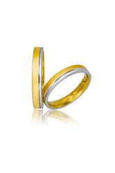 βέρες γάμου - αρραβώνων, δίχρωμες, σε χρυσό και λευκό χρυσό Κ9 ή Κ14 / 706 / 3.00 mm