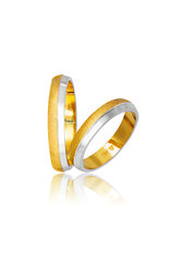 βέρες γάμου - αρραβώνων, δίχρωμες, σε χρυσό και λευκό χρυσό Κ9 ή Κ14 / 742 / 3,20 mm
