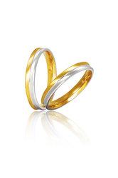 βέρες γάμου - αρραβώνων, δίχρωμες, σε χρυσό και λευκό χρυσό Κ9 ή Κ14 / S1 / 3.00 mm