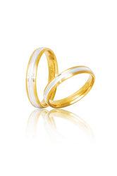 βέρες γάμου - αρραβώνων, δίχρωμες, σε χρυσό και λευκό χρυσό Κ9 ή Κ14 / S13 / 3.50 mm