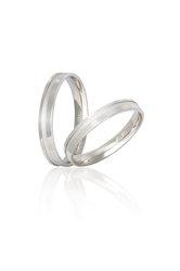 βέρες γάμου αρραβώνα, σε λευκό χρυσό Κ9 ή 14 / S17 / 3.50 mm