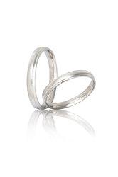 βέρες γάμου - αρραβώνων, σε λευκό χρυσό Κ9 ή Κ14 / S41 / 3,00 mm