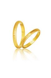 βέρες γάμου - αρραβώνων, σε χρυσό Κ9 ή Κ14 / S51 / 2,50 mm