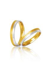 βέρες γάμου - αρραβώνων, δίχρωμες, σε χρυσό και λευκό χρυσό Κ9 ή Κ14 / S7 / 3.50 mm