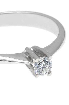 γυναικείο δαχτυλίδι, μονόπετρο με brilliant 0.18 ct, χειροποίητο, σε λευκό χρυσό 18 καρατίων / 1DA2894 - λεπτομέρεια