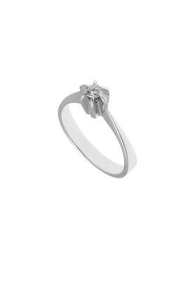 γυναικείο δαχτυλίδι, μονόπετρο με brilliant 0.18 ct, χειροποίητο, σε λευκό χρυσό 18 καρατίων / 1DA2895