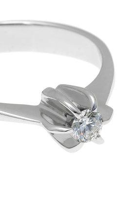 γυναικείο δαχτυλίδι, μονόπετρο με brilliant 0.18 ct, χειροποίητο, σε λευκό χρυσό 18 καρατίων / 1DA2895 - λεπτομέρεια