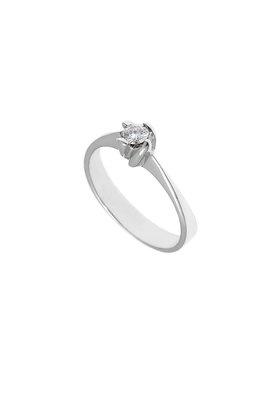 γυναικείο δαχτυλίδι, μονόπετρο με brilliant 0.18 ct, χειροποίητο, σε λευκό χρυσό 18 καρατίων / 1DA2896