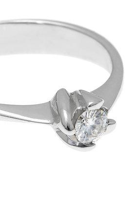 γυναικείο δαχτυλίδι, μονόπετρο με brilliant 0.18 ct, χειροποίητο, σε λευκό χρυσό 18 καρατίων / 1DA2896 - λεπτομέρεια