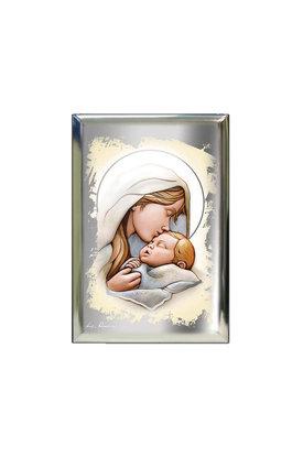 επάργυρη θρησκευτική εικόνα πίστης, Παναγία Γλυκοφιλούσα, / 2ΕΙ0206 / 70 x 100 mm
